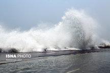 متلاطم شدن دریا در مناطق غربی جزیره لاوان  افزایش دمای هرمزگان از جمعه