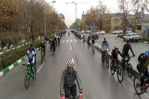 برگزاری همایش دوچرخه سواری هفته وحدت در مشهد