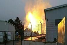 انفجار در پایانه گازی شرکت ملی نفت و گاز اتریش+ تصاویر