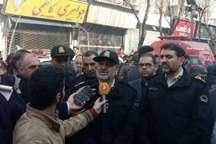 سردار اشتری: ساختمان پلاسکو تحت نظارت پلیس/ هیچ مورد امنیتی در محل حادثه نداریم