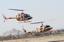4 بالگرد هوانیروز از آبیک برای کمک به سیل زدگان راهی گلستان شدند