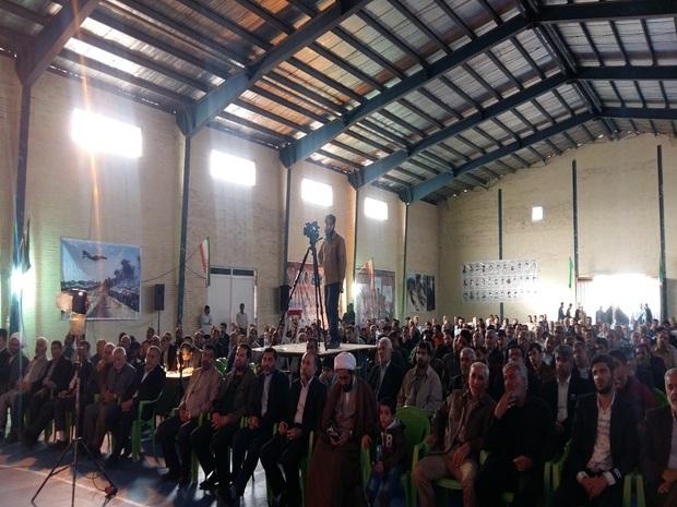 گردهمایی گردان ابوذر و رزمندگان دفاع مقدس در گتوند برگزار شد