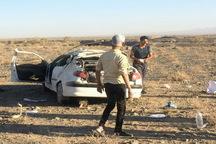 6 نفردر حادثه رانندگی جاده بادرود- اردستان مصدوم شدند