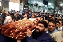 پیکر هادی شمخانی در اهواز تشییع شد