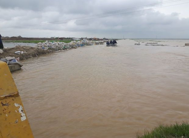 سیلاب قرهسو به روستاهای شمالی کردکوی رسید