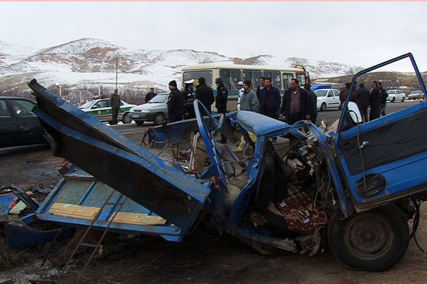 تصادف در جاده مراغه - هشترود دو کشته برجا گذاشت
