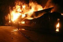 آتش سوزی انبار لوازم خانگی درمولوی مهار شد