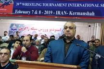 مراسم افتتاحیه مسابقات کشتی جام تختی در کرمانشاه برگزار شد