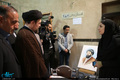 بازدید سید حسن خمینی از کارگاه هنری