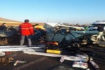 تصادف در جاده بوکان - سقز 2 کشته برجا گذاشت