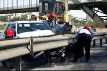 برخورد سه خودرو در آزاد راه زنجان - قزوین یک کشته برجا گذاشت