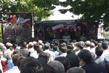 تشییع پیکر شهید «محمدرضا فیروزی» در شهرستان ملکان