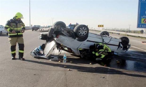 واژگونی خودرو در سیرجان 2کشته برجا گذاشت
