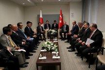 عکس/ دیدار اردوغان با آبه در نیویورک