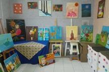 نمایشگاه صنایع دستی معلولان ذهنی در قزوین افتتاح شد