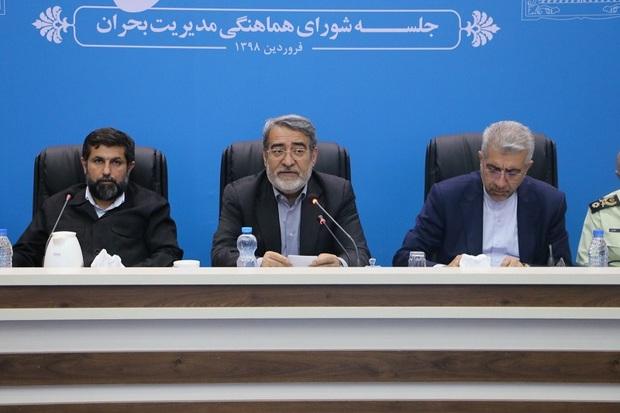 وزیر کشور:تلاش می کنیم سیلزدگان زودتر به خانههایشان برگردند