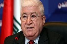 توضیحات رئیس جمهور عراق در مورد تحریم های آمریکا علیه ایران