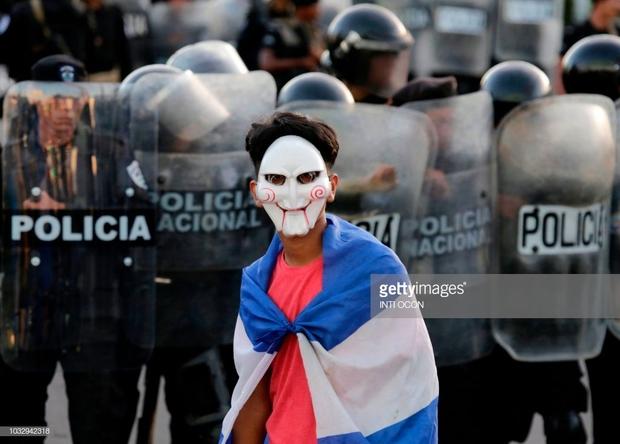 تظاهرات نیکاراگوئه 5 ماهه شد/ دو زخمی در جدیدترین تظاهرات+ تصاویر
