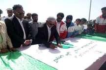 امضای طومار نه به تصادفات جاده ای در ایرانشهر