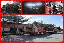 آتش سوزی انبار لاستیک در بیرجند خسارت جانی نداشت
