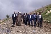 احداث جاده جدید دسترسی امامزاده احمد(ع)