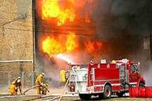 2 آتش سوزی در شهر کرمان