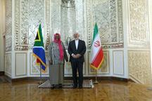 دیدار و گفتگوی محمد جواد ظریف با وزیر امور خارجه آفریقای جنوبی