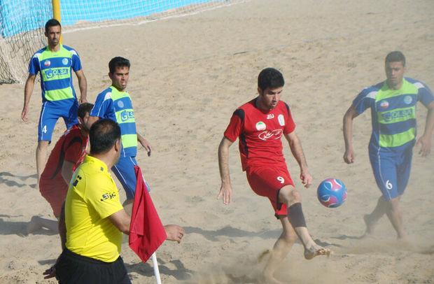تیمهای صدرشیمی یزد و ارومیه به مرحله نهایی فوتبالساحلی صعود کردند
