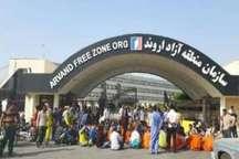 کارگران خدماتی شهرداری خرمشهر روبه روی منطقه آزاد اروند تجمع صنفی برپا کردند