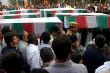 پیکر هشت شهید گمنام در قشم تشییع شد