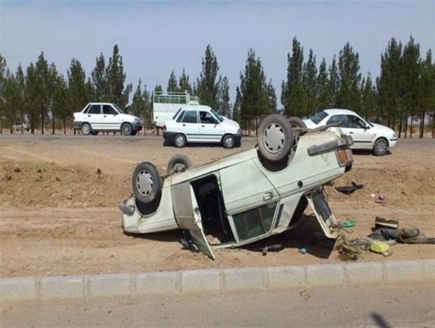 همدان؛ واژگونی سرویس مدرسه با ۷ دانش آموز