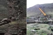 منازل در معرض رانش زمین روستاییان درگزی تخلیه شدند