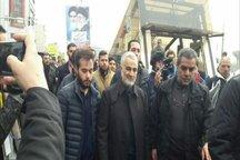 قاسم سلیمانی در راهپیمایی 22 بهمن تهران