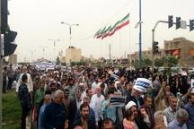راهپیمایی ضد آمریکایی در شهرهای خوزستان برگزار شد  قرائت قطعنامه پایانی تظاهرات سراسری ضد آمریکائی