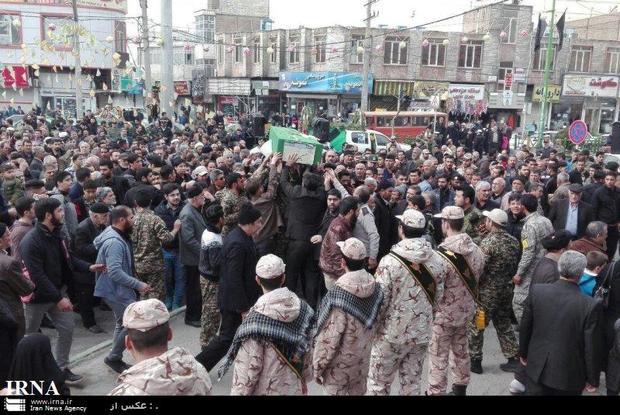 پیکر شهید مدافع حرم در قرچک تشییع شد