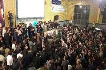 برگزاری آئین شب قدر مردم فردیس در کنار پیکر مطهر شهید مدافع حرم