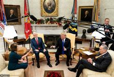 دعوای علنی ترامپ با رهبران دموکرات و تهدید به تعطیلی دولت+ تصاویر