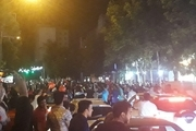 مردم کرمانشاه قهرمانی پرسپولیس را جشن گرفتند