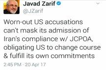 ظریف: آمریکا موظف است که به تعهدات خود در برجام عمل کند