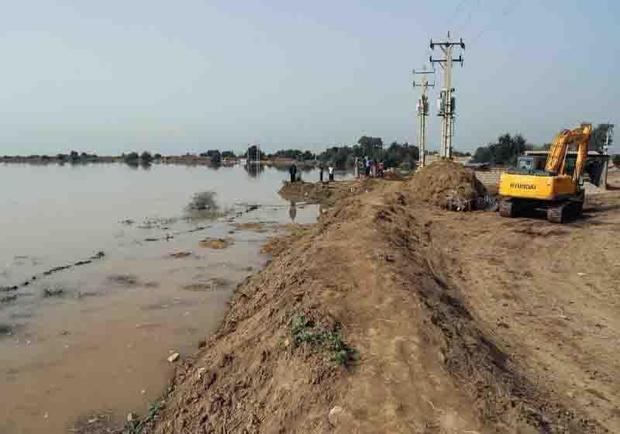 19 کیلومتر سیل بند در آبادان احداث شد