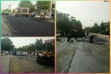 126هزار متر مربع از معابر و خیابان های بروجرد آسفالت شد