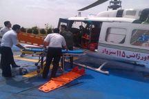 اورژانس هوایی سبزوار جان سه مصدوم را نجات داد