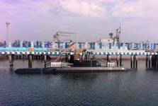 با حضور رییس جمهور، پیشرفته ترین زیردریایی بومی ایران به نداجا پیوست شد