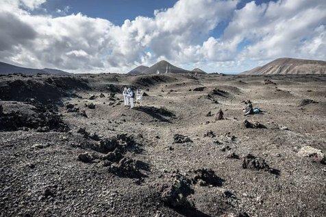 تمرین راهپیمایی روی ماه از سوی فضانوردان اروپایی