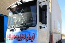 ارسال 10هزار بطری اب معدنی از مازندران به مناطق زلزله زده غرب کشور