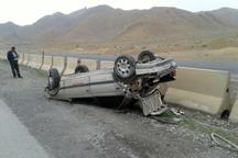 3 کشته و زخمی بر اثر واژگونی یک خودرو در آزادراه قزوین-زنجان