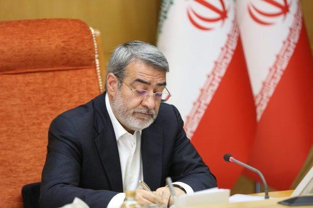 وزیر کشور در پیامی آسمانی شدن سید نور خدا موسوی را تسلیت گفت