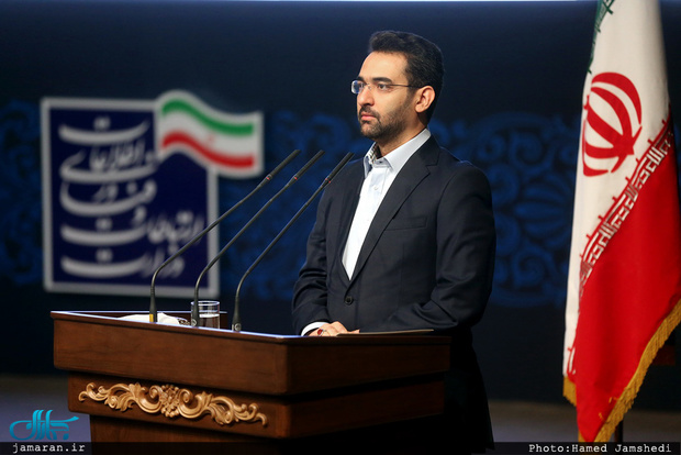 واکنش آذری جهرمی به انتشار تصویر توهین آمیز در مورد رییس مجلس