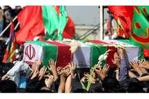 پیکر پاک سه شهید گمنام در بزمان ایرانشهر تشییع و خاکسپاری شد