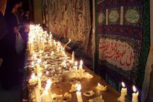 برپایی آیین سنتی شمع سوزان در مساجد قوچان